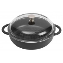 NỒI GANG STAUB HEXAGON BLACK GLASS LID 24