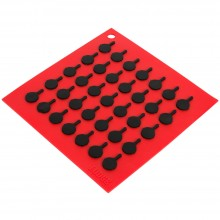 LÓT NỒI LODGE SILICONE TRIVET RED