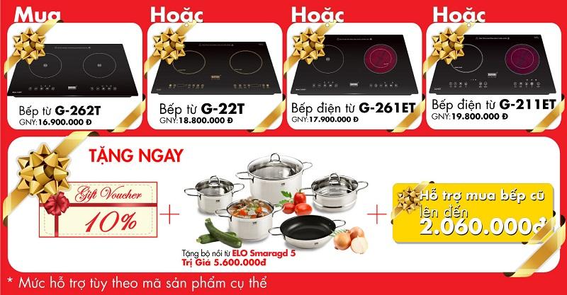 Bếp từ và bếp điện từ Giovani