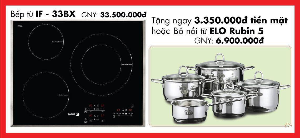 Giảm giá 10% khi mua bếp từ IF-33BX