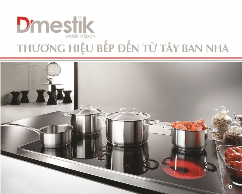 Thương hiệu bếp D'mestik  đến từ Tây Ban Nha