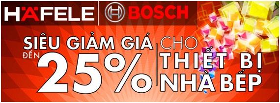 Chương trình khuyến mại thiết bị nhà bếp Bosch, Hafele