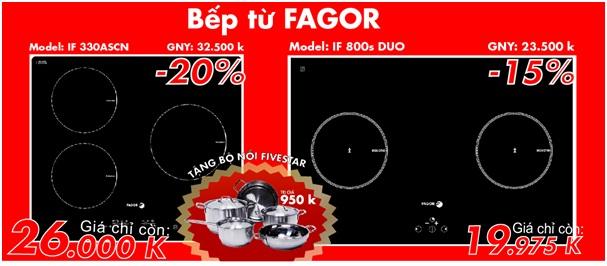 Bếp từ fagor IF 330ASCN và bếp từ Fagor IF 800S DUO