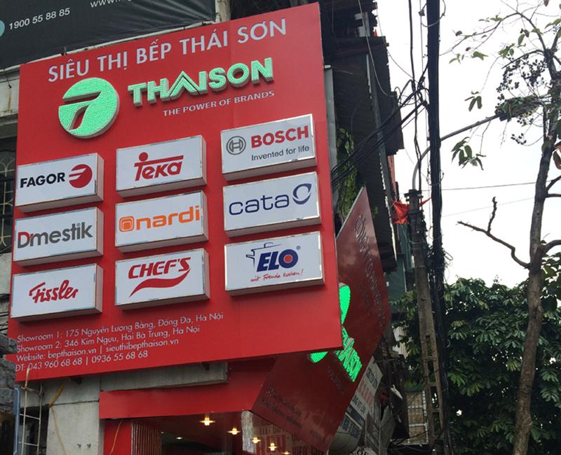 Các thương hiệu nhà bếp cao cấp là bạn hàng với Thái Sơn