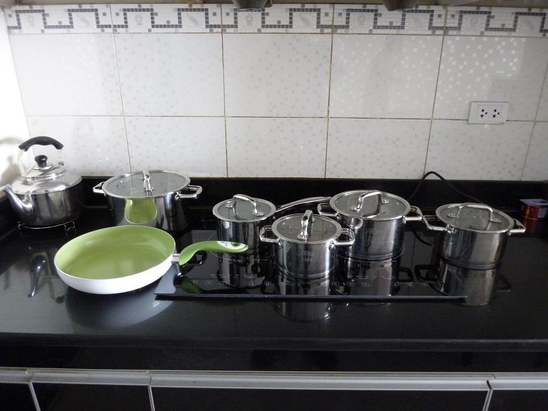 Bộ nồi dùng cho bếp điện từ