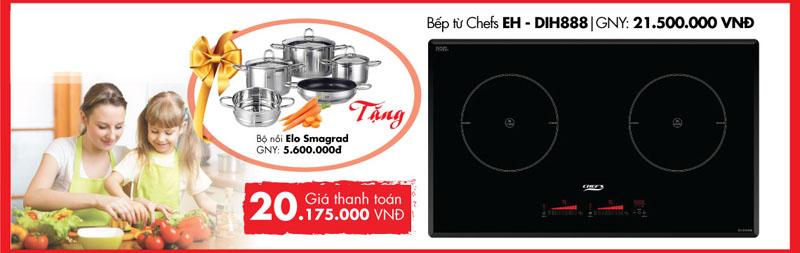 Khuyến mại bếp đôi Chefs EH- DIH888