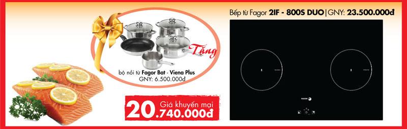 Bếp từ đôi Fagor 2IF- 800S DUO