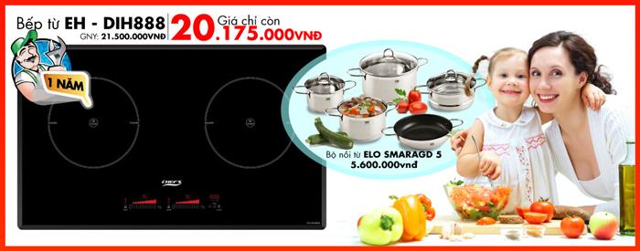 Bếp từ Chefs EH – DIH888 với nhiều công nghệ hiện đại