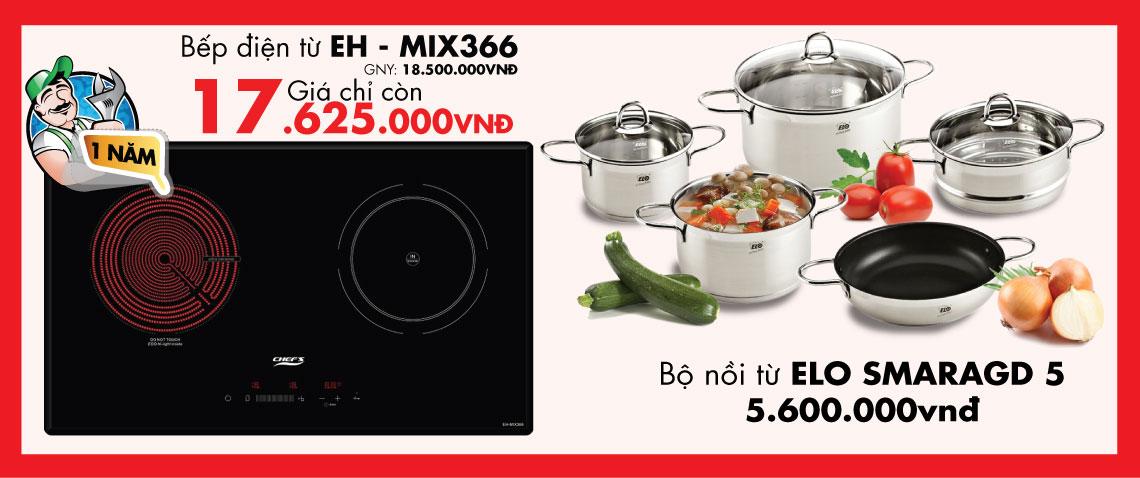 Bếp điện từ Chefs EH – MIX366