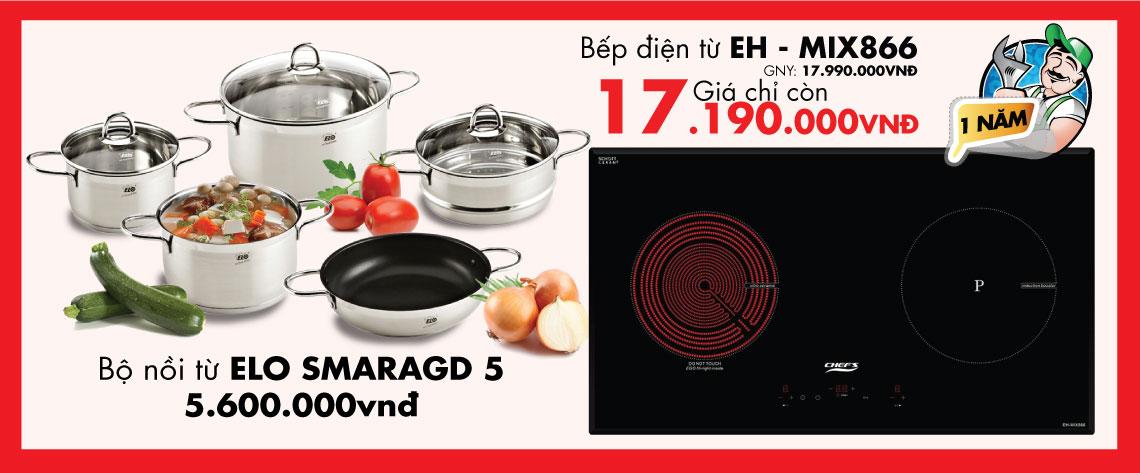 Bếp điện từ Chefs EH – MIX866