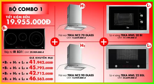 Tiết kiệm đến 30% thiết bị nhà bếp Teka