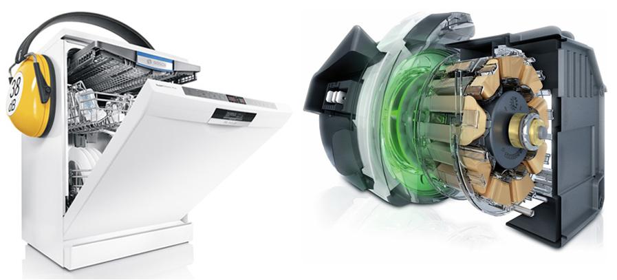 Động cơ máy rửa bát Bosch siêu êm