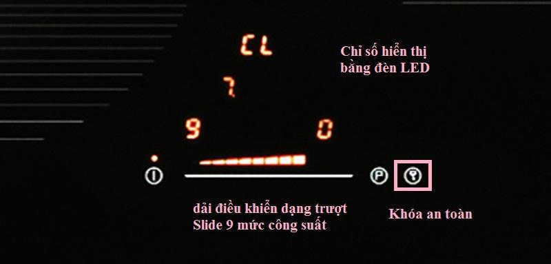Bảng điều khiển Touch control của bếp từ Cata IS 603 B/BK