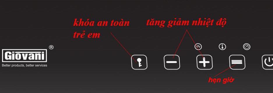 Bảng điều khiển an toàn, dễ sử dụng