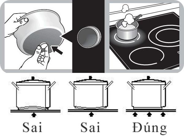 Cách chọn nồi nấu cho bếp từ