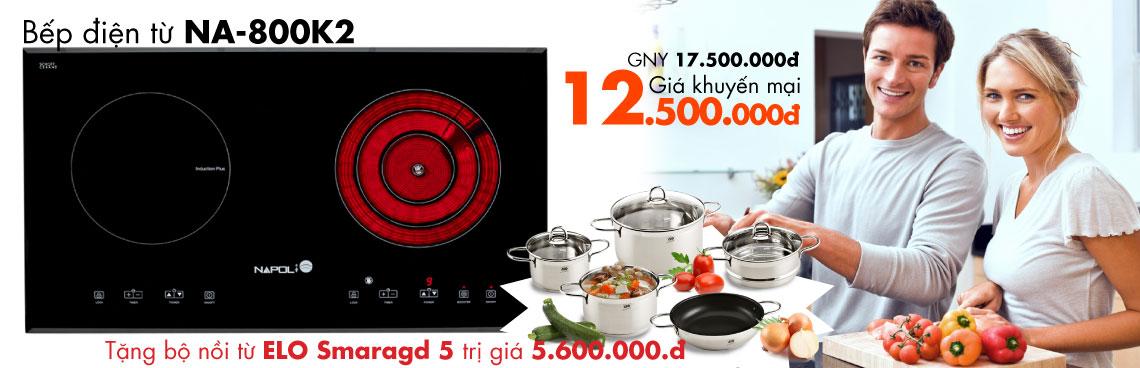 Bếp điện từ Napoli NA - 800K2