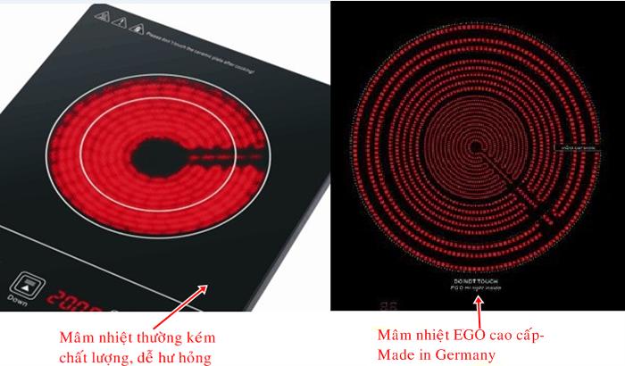 Sự khác nhau giữa hai loại mâm nhiệt