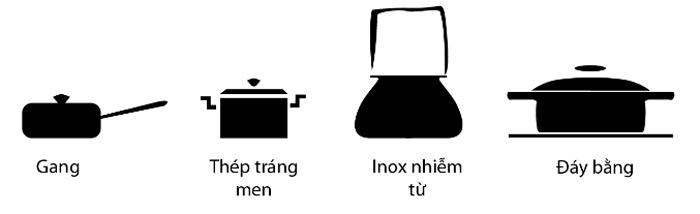 Dụng cụ nấu dành cho vùng nấu bếp từ