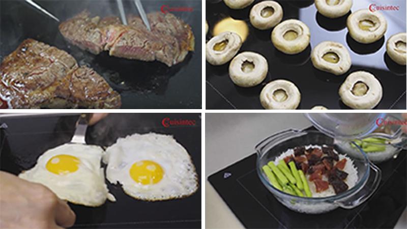 bếp điện Fagor 2VFT 211AS có khả năng nướng trực tiếp trên mặt bếp