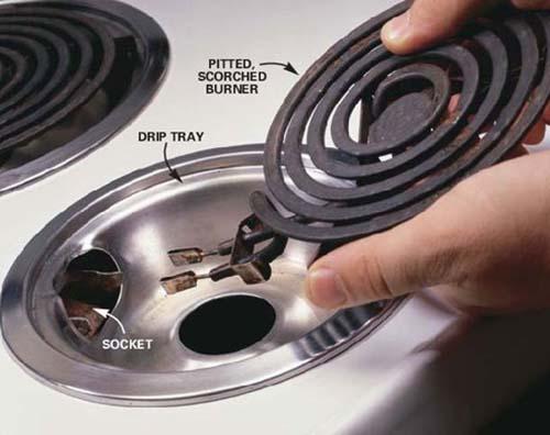 Vệ sinh dây đốt nóng của bếp điện đúng cách