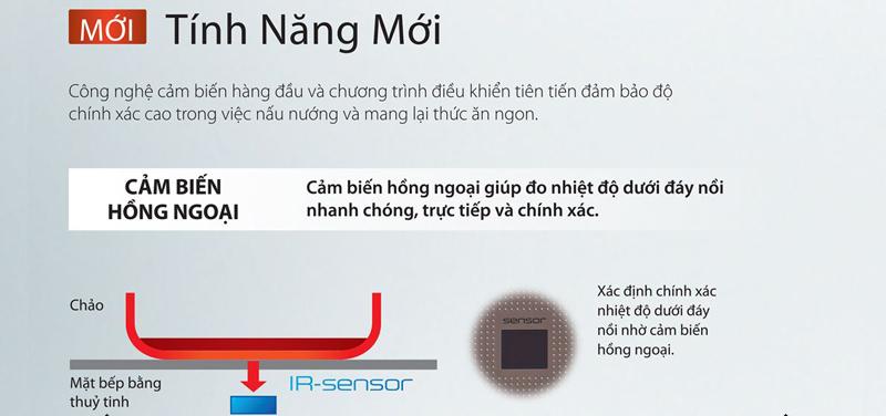 Cảm biến hồng ngoại trên bếp từ Panasonic KY-A227D