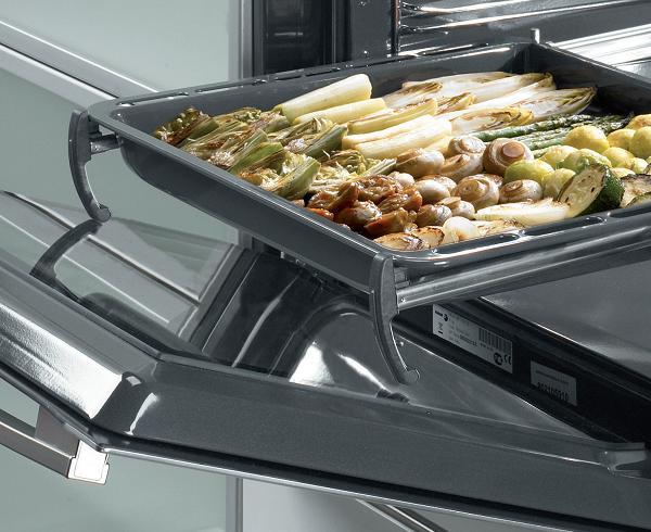 Cửa kính bốn lớp cùng giá đỡ toàn phần của lò nướng Fagor 6H - 760BX
