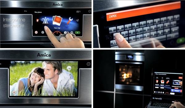 Tiện ích từ công nghệ hiện đại của lò nướng Amica EBI71394AA Steam