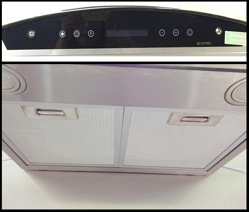 Cấu tạo máy hút mùi Benza BZ 970 SA