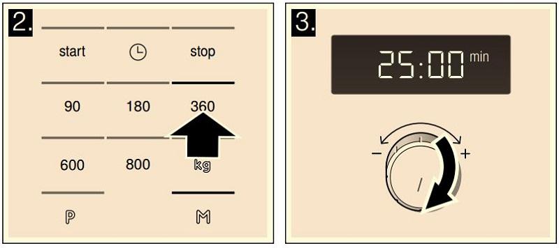 Cài đặt tính năng ghi nhớ của lò vi sóng Bosch HMT75M624B