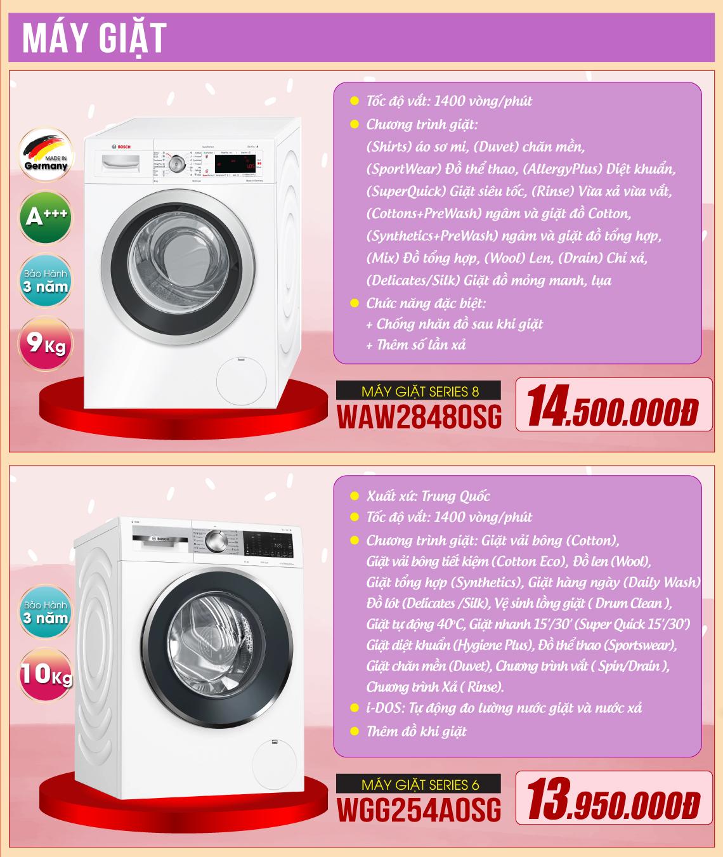 Máy giặt Bosch Khuyến Mại