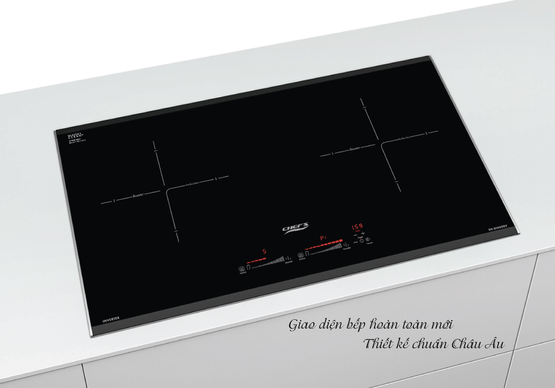 Bếp có giao diện hoàn toàn mới, thiết kế chuẩn Châu Âu