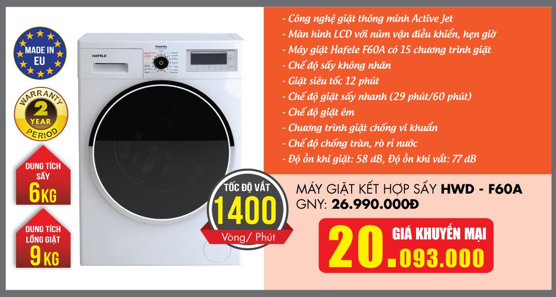 Máy giặt HAFELE khuyến mại