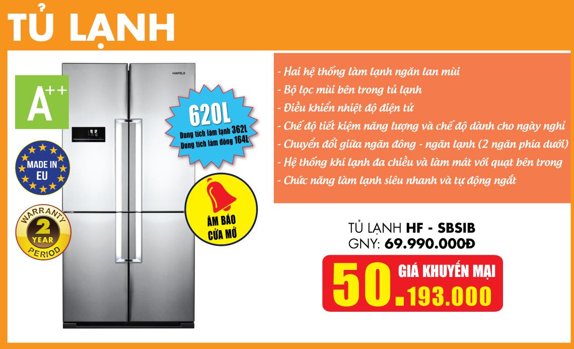 Tủ lạnh HAFELE khuyến mại