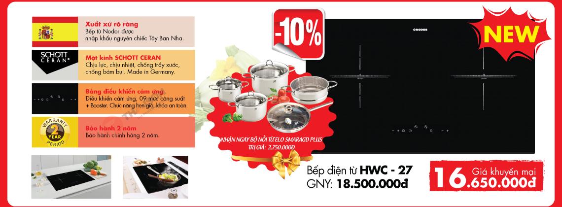 Bếp điện từ Nodor HWC 27