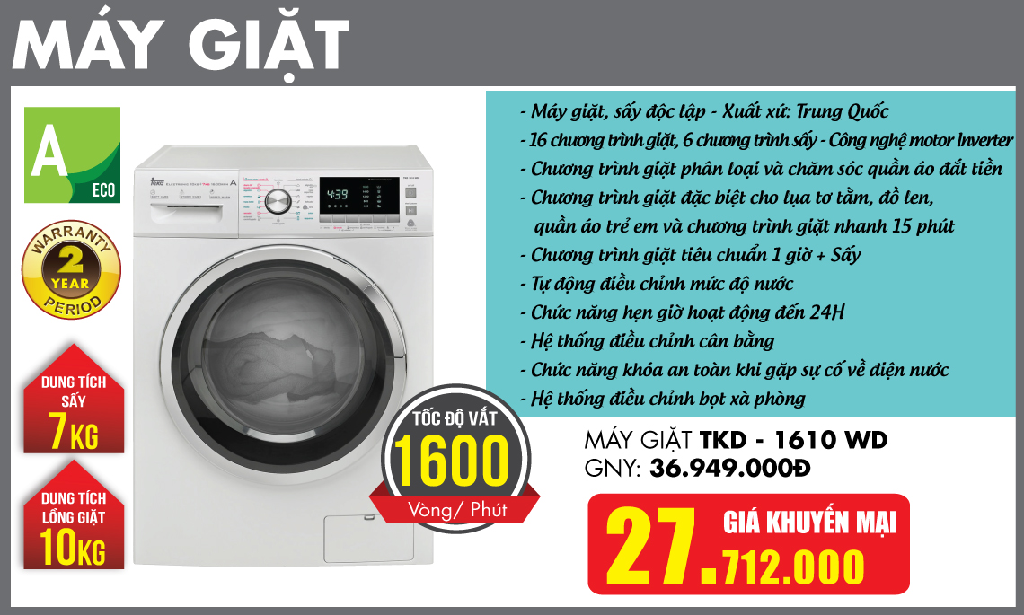 Máy giặt Teka Khuyến mại