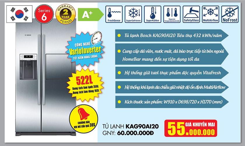 Tủ lạnh Bosch khuyến mại