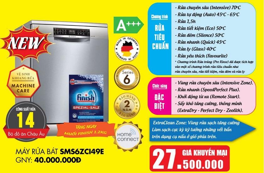 Giá máy rửa bát Bosch SMS6ZCI49E