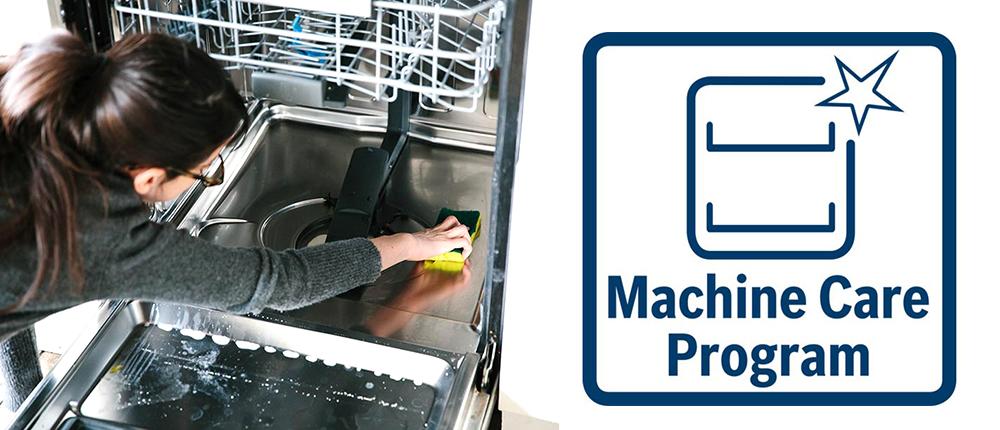 Vệ sinh khoang rửa hiệu quả với Machine Care.