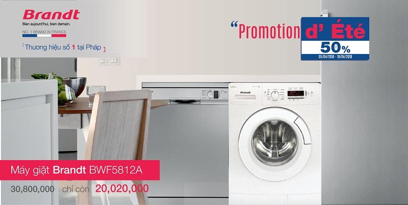 Khuyến mại máy giặt Brandt