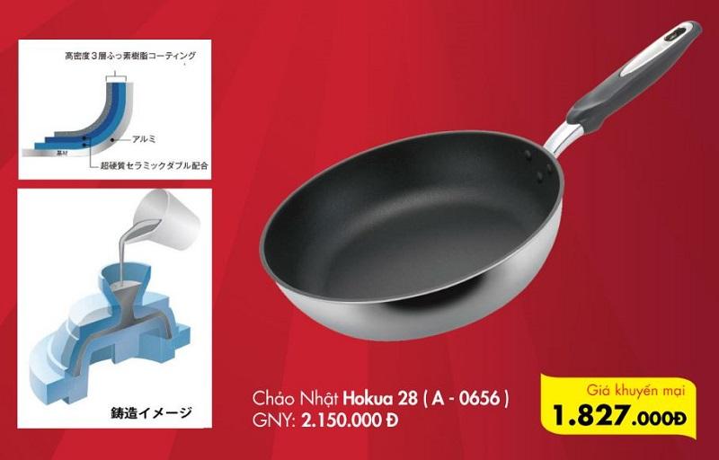 Khuyến mại 15% chảo chống dính Hokua Made in Japan