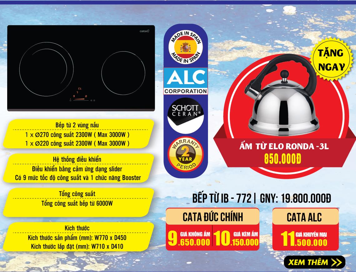 Bếp từ Cata IB772 giá tốt nhất thị trường.