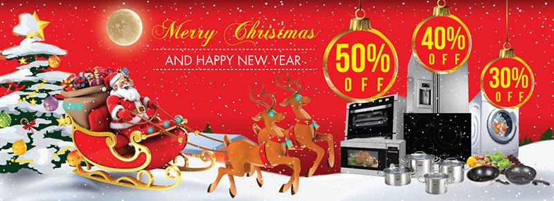 Mừng Noel, đón năm mới với siêu khuyến mại 50%
