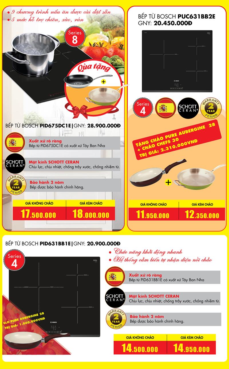 3 model bếp từ Bosch hot giá tốt dịp 20/10