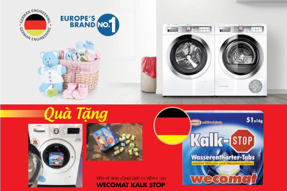 Mua máy giặt được tặng bộ quà nhập khẩu.