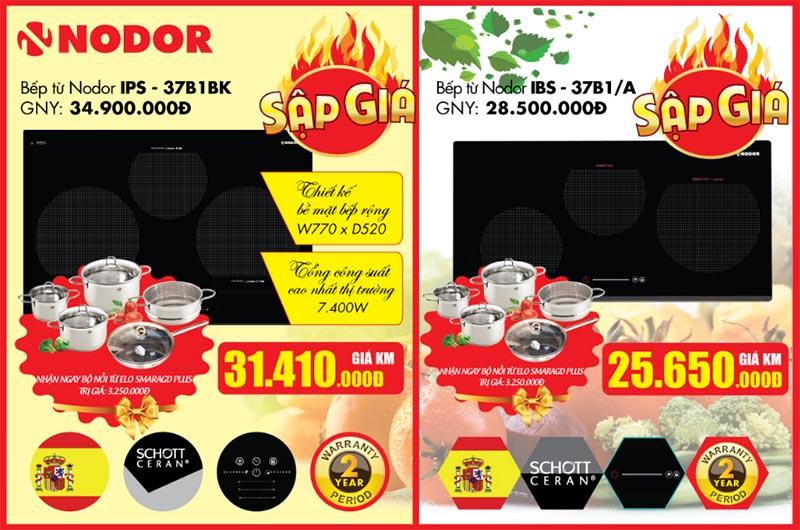 Cơ hội mua bếp từ Nodor IPS – 37B1BK và IBS - 37B1/A được khuyến mại hấp dẫn