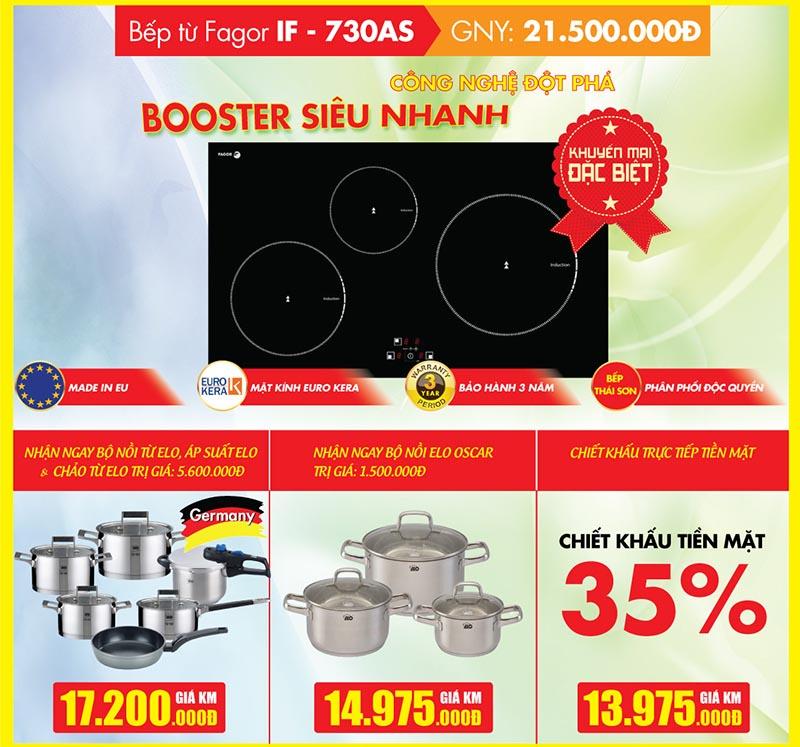 Khuyến mại 35% bếp từ Fagor IF - 730AS tại Bếp Thái Sơn