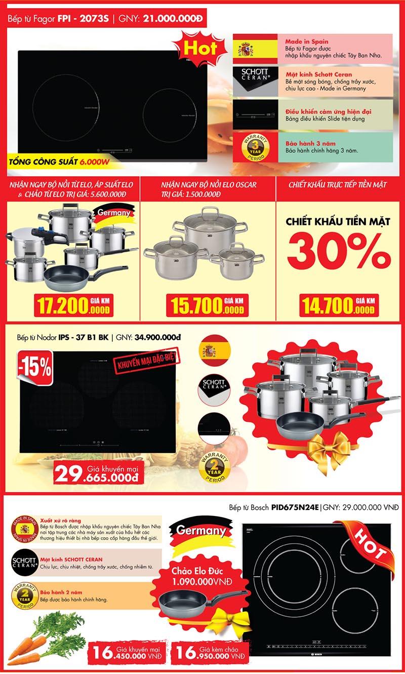 Đồng loạt khuyến mại nhiều sản phẩm thiết bị bếp cao cấp