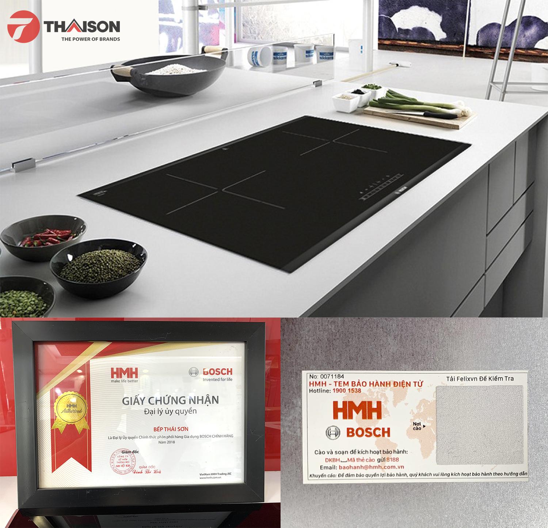 Bếp từ Bosch PPI82560MS được bảo hành chính hãng của HMH.