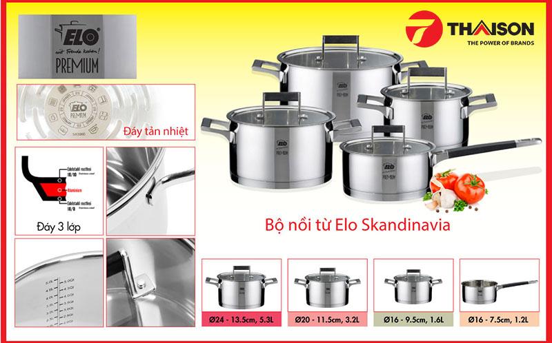 Bếp Thái Sơn địa chỉ uy tín để mua bộ nồi từ Elo Skandinavia 4 chiếc chính hãng, chất lượng, giá tốt