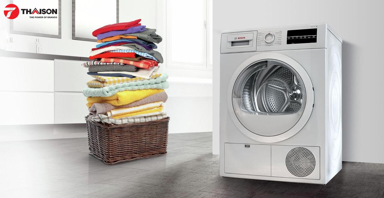 Sấy khô đồ len hoàn hảo với máy sấy quần áo Bosch.